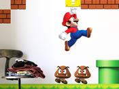 Stickers muraux Super Mario Bros l'assaut murs