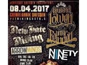Arrow Minds/Ninetynine/New Hate Rising/Tausend Löwen unter Feinden Chemiefabrik Dresde avril 2017