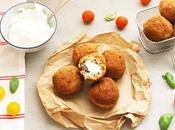 Arancini fourrées mozzarella (croquettes siciliennes)