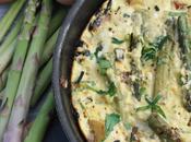 Tortilla asperges vertes chèvre