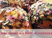 Muffins orange pépites chocolats