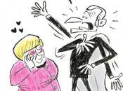 Caricature Macron Merkel