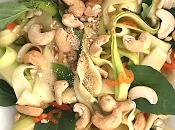 Salade courgettes façon thaï