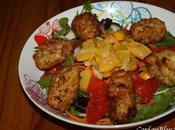 Salade composée croquettes morue