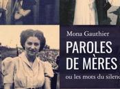 Paroles mères mots silence, essai Mona Gauthier