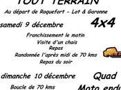 Rando 4X4, quad, moto Téléthon Roquefort (47), décembre 2017