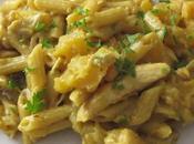 pasta courge/poulet/champignons
