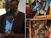 Vernissage l'exposition peintre Kassa Mfoubou librairie Galerie Congo