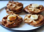 Mini croque-gaufres banane caramel