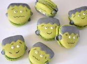 Macarons Frankenstein pistache pour Halloween