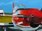 l'Avion rouge (Pilatus) Peinture Serge Boisse (2017)