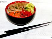 Nouilles sautées veau légumes (Boudha Bowl)