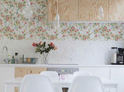 cuisine scandinave florale look
