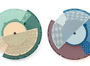 Graphic Time, série d'horloges graphiques
