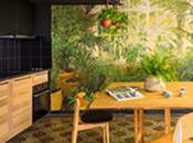 thème végétal domine décoration appartement Barcelone