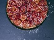 Tarte bouquet roses