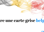 Carte grise belge aide pour acheter voiture Belgique