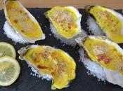 Huîtres chaudes mascarpone, curcuma lardons