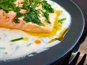 Filet saumon sauce yaourt tabasco