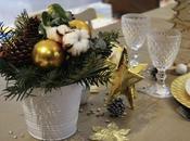 table Noël avec Jardin Fleurs