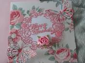Carte anniversaire shabby
