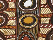 "Focus peinture aborigène ""Kulama Design"" Nina PURUNTATAMERI"