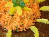 salade orientale carotte, orange coriandre