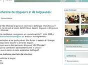 Fabrique Blogs ligne deux blogs pour Montréal
