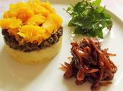 Trio Courge-lentilles-pommes terre confit d'oignons (Vegan)