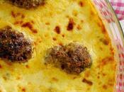 """Souvlitses """"quenelles"""" viande hâchée leur gourmand cuit dans crème fromagée oeufs yaourt grec pour Tsiknopempti"""