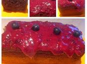 Cake marbré myrtilles, glaçage myrtilles (sans gluten) thermomix sans