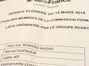 Réélu commission permanente région Ile-de-France