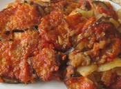 gratin d'aubergine/pommes terre/bacon