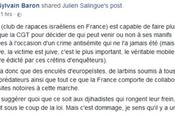 Apologie #terrorisme Sylvain Baron encore frappé… #antisemitisme #antifa #marcheblanche