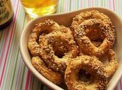 Biscuits apéritifs tout rond sésame (Vegan)