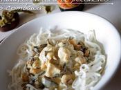 Cabillaud, crevettes pétoncles, sauce coco combawa, plat asiatique