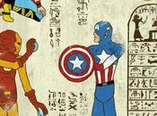 [INSOLITE] l'illustrateur Josh invente super-Hiéroglyphes profite pour vous parler sérieusement style graphique l'Égypte antique)