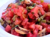 Salade froide marocaine poivrons,tomates moules