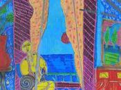 soleil fenêtre acrylique toile 80x80 cm-The window acrylic canvas 80x80cm-캔버스에 창문이있는