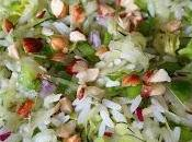 Salade riz, courgette crue poivron