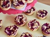 Mini tartes crémeuses framboise crumble