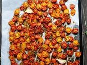 Tomates multicolores confites four