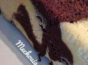 Gateau marbre chocolat vanille cuisson vapeur