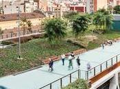 Jardins Rambla Sants Coulée verte Barcelone Architecture Urbanisme