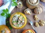 Courge farcie céréales, champignons noix
