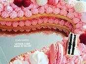 Letter Cake rose blanc