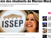 drapeau brun #antisémitisme flotte #ISSEP (l'école front Marion Pen)