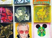 artistes réduisent leurs œuvres format Post-it®