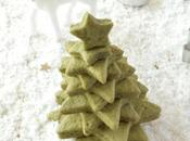 Sapins Noël biscuits sablés vegan matcha