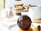 Sorbet clémentine, sphère chocolat